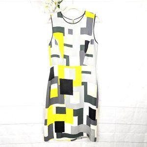 Kate Spade della Geometric Print Shell Dress SZ 8